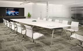 Cool Meeting Table Mesmerizing White Conference Table Rectangular Shape Slab Base