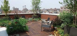 exteriors open plan terrace roof garden design ideas with red