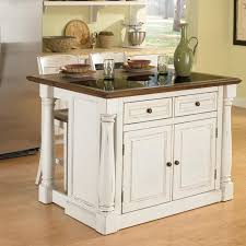 kitchen islands granite top home styles monarch 3 granite top kitchen island stool set