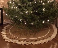 burlap tree skirt no sew burlap tree skirt