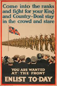 British Flag Ww1 Striking World War One Posters Show How Men Were Recruited Daily