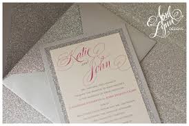 silver wedding invitations s wedding invitation suite april designs