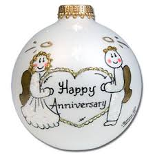 anniversary christmas ornament buy happy anniversary glass ornament personalized christmas