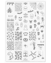 halloween 01 uberchic nail stamp plates