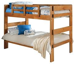 Heartland Twin Over Twin Wooden Bunkbed Traditional Bunk Beds - Pine bunk bed