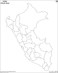 Blank World Map Of Continents by Blank Map Of Peru Peru Outline Map