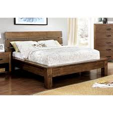 Rustic Platform Bed Furniture Of America Marchen Rustic Plank Style Platform Bed