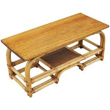 rattan coffee table outdoor restored two tier rattan coffee table with mahogany top for sale at