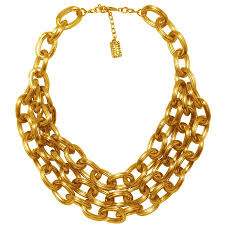 gold chunky necklace images Lana chunky necklace in gold karine sultan official website jpeg