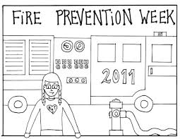 fire safety coloring pages preschool fire safety