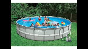 Intex Pools 18x52 Intex 26 Feet X 52 Inches Above Ground Ultra Frame Pool Set With