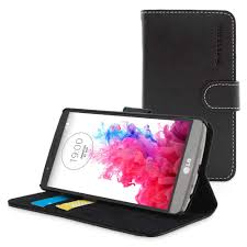 snugg lg g3 flip case in black leather available online from
