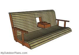 porch building plans porch swing with center console plans myoutdoorplans free