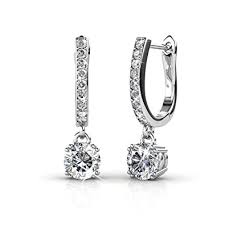 best earrings cate 18k white gold dangling earrings
