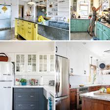 Turquoise Cabinet Two Toned Kitchen Cabinet Trend
