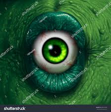 monster eye halloween ogre demon closeup stock illustration