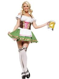 Halloween Costumes Oktoberfest Beer Couple Bartenders Maid Halloween Costume Party