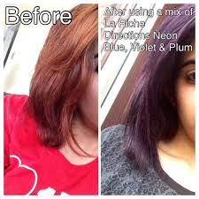 brown plum hair color hair dye la riche directions neon blue violet