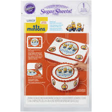 minions edible images cake decorating kit wilton