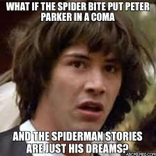 Peter Parker Memes - what if the spider bite put peter parker in a coma and the