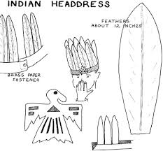 how to make native american indian headdress for kids costume