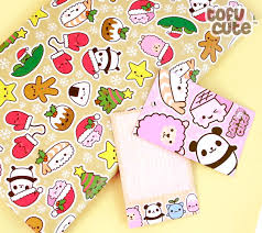where to buy pretty wrapping paper buy tofu gift wrap set kawaii christmas characters at tofu