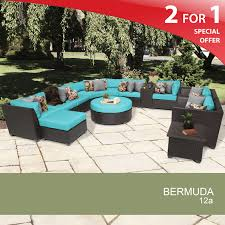 Threshold Wicker Patio Furniture - bermuda 12 piece outdoor wicker patio furniture set 12a