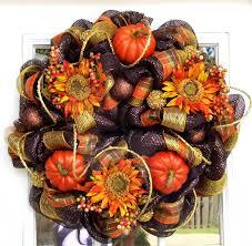 mesh ribbon wreaths fall mesh wreath pumpkins flowers by