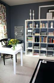 Desk For Small Spaces Ikea Office Design A Home Office With A White Desk That Is Adjustable