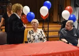 balloon a gram rochester ny senior meets congresswoman louise slaughter st