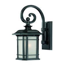 exterior lighting fixtures wall mount acclaim lighting laurens collection 1 light black coral outdoor