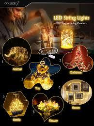Starry String Lights Amber Lights On Copper Wire by String Lights Oak Leaf 6 Pcs Led Fairy Lights 20 Leds Bright