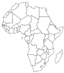 blank outline map of africa africa map assignment party