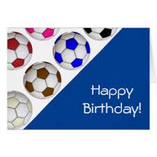 soccer happy birthday cards greeting u0026 photo cards zazzle