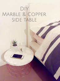 beautiful cheap marble and copper table hack u2013 domestic aesthetic