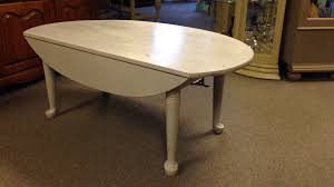 Drop Leaf Coffee Table Vintage Leather Top Drop Leaf Coffee Table Ebth Ikea Dsc Thippo