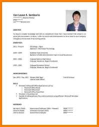 Sample Resume For Government Employee by 6 Resume Letter Sample For Ojt Inventory Count Sheet