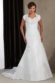 robe de mari e classique robe de mariée manche courte taffetas sirène col élisabéthain