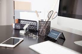 bronze desk organizer for women or men 3 piece desk accessories