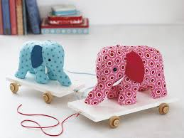how to make a pull along elephant toy