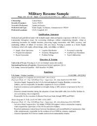 Aviation Resume Examples by Military To Civilian Resume Examples Resume Examples For Military