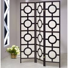 curved room divider screen gems 84quot x wooden mirror 3 panel