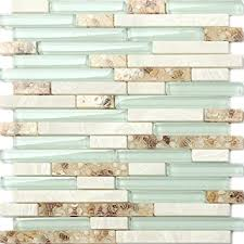beach style glass tile mother of pearl shell resin kitchen