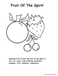 fruit of the spirit coloring pages inside fruits of eson me