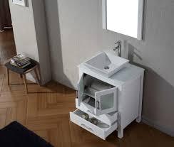 abodo 28 inch vessel sink bathroom vanity white finish stone