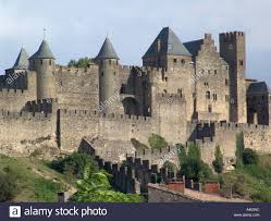 Carcassonne La Cite The Medieval Upper City Of Carcassonne In The 19th