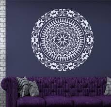 Om Wall Decal Mandala Vinyl by Boho Wall Decal Mandala Decals Flower Vinyl Stickers Art Mural
