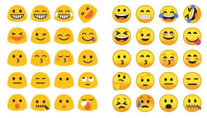new android emojis poll do you like or new android emojis better awaqa