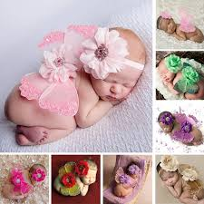 baby flower headbands newborn silk butterfly photo props baby flower headband wing