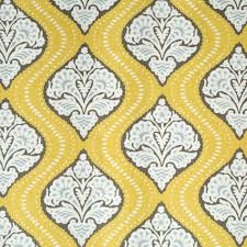 yellow and brown upholstery fabric 2 5 yards home decor fabric